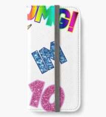 10th birthday funny  dabbing unicorn  iPhone Wallet/Case/Skin