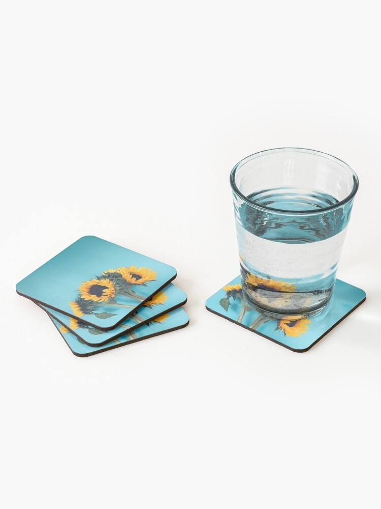 Alternate view of Sunflowers Coasters (Set of 4)