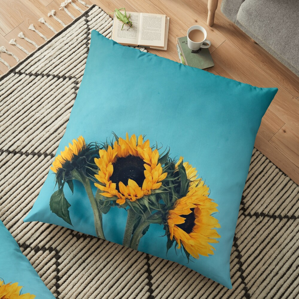 Sunflowers Floor Pillow