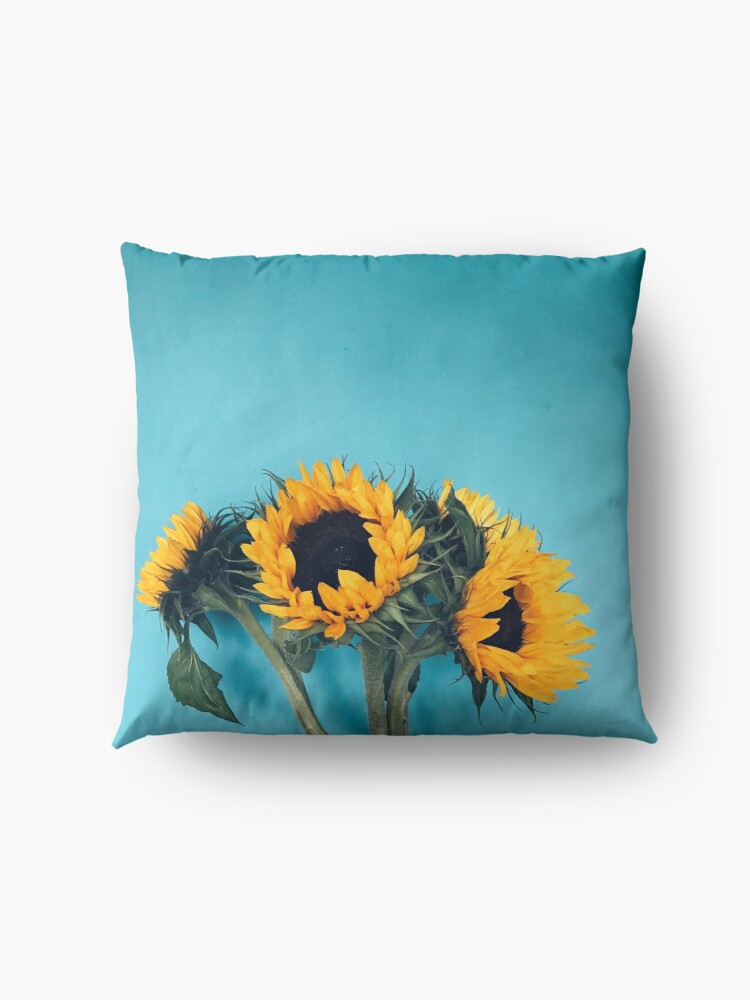 Alternate view of Sunflowers Floor Pillow