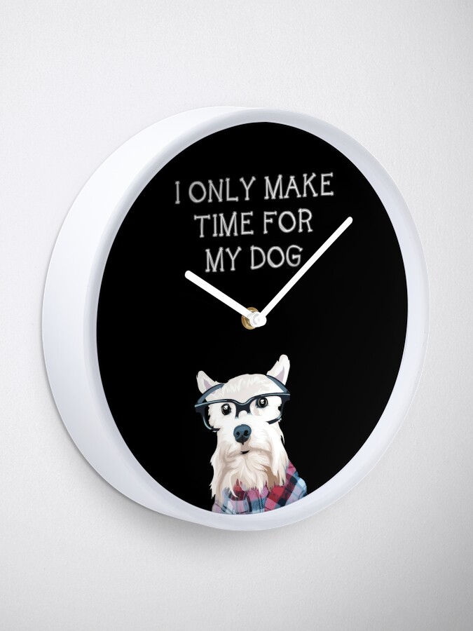 Alternate view of All About Dogs - Dog Clock Clock