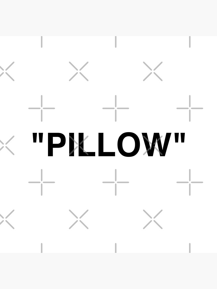 """PILLOW"" LOGO - BLACK by KRNTH"