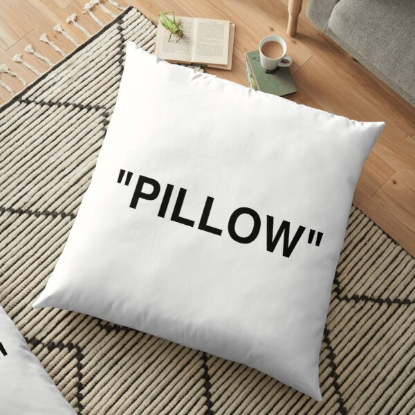 """PILLOW"" LOGO - BLACK Floor Pillow"