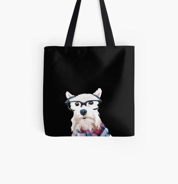 Dapper Dog  All Over Print Tote Bag