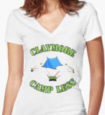 Claymore, camp less. Women's Fitted V-Neck T-Shirt