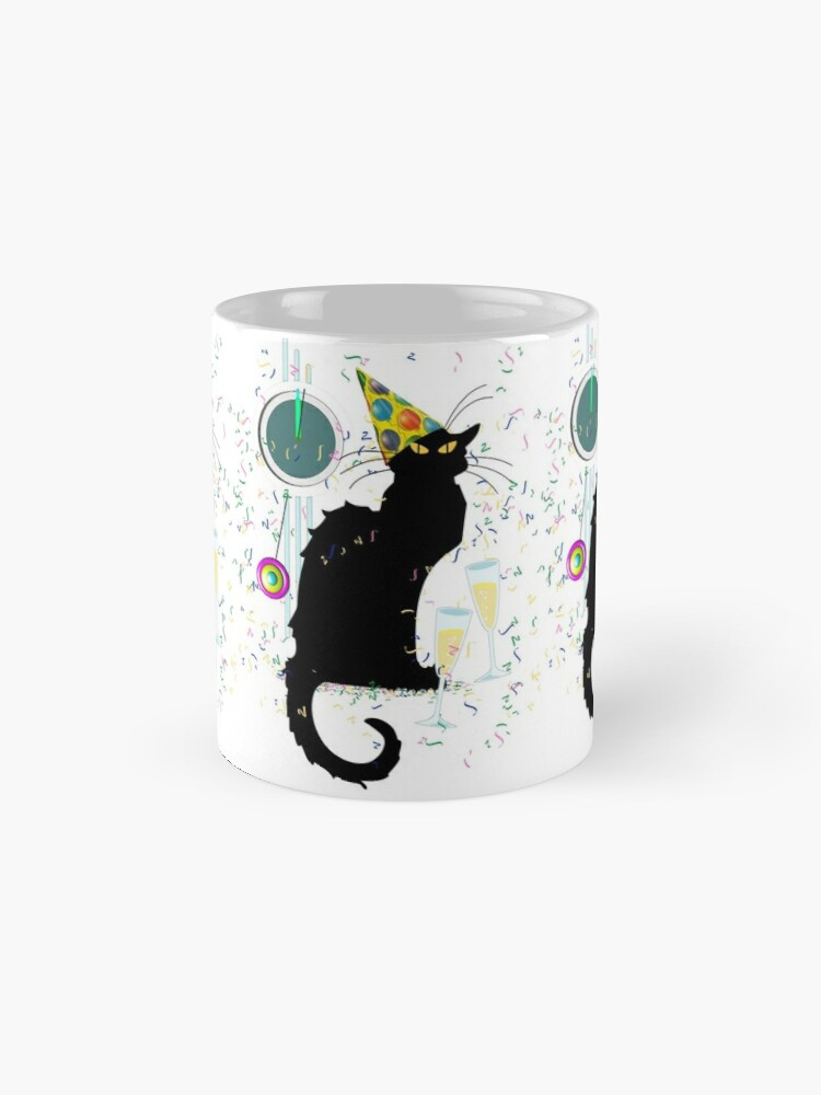 Alternative Ansicht von Chat Noir Silvester Party Countdown Tasse