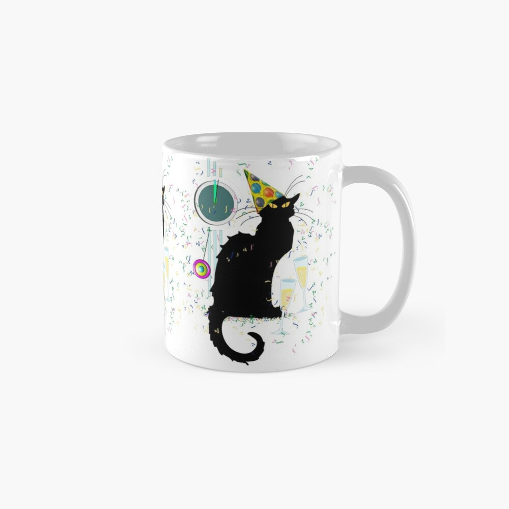 Chat Noir Silvester Party Countdown Tasse