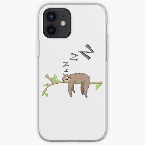Sleeping sloth iPhone Soft Case