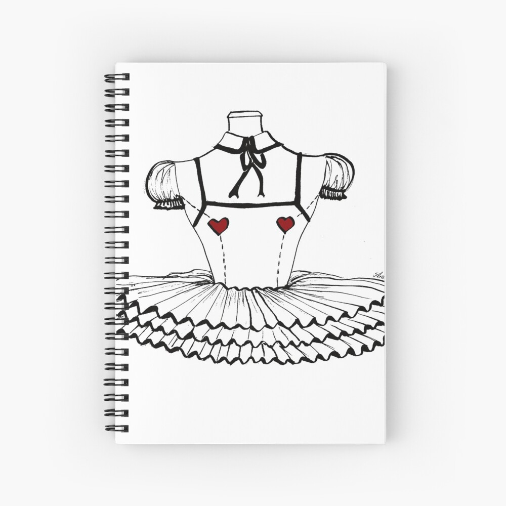 Fashion doll Spiral Notebook