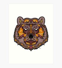 Norse Bear Color Art Print