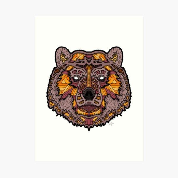 Norse Bear Color Art Print