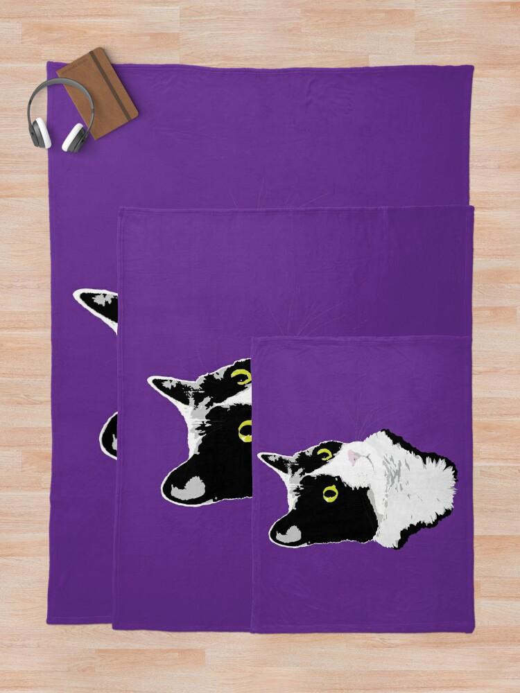 Alternate view of Regal Tuxedo Kitty Throw Blanket