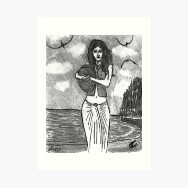 THE WATER GIRL Art Print
