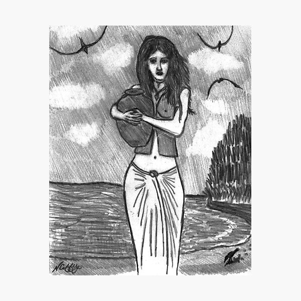 THE WATER GIRL Photographic Print