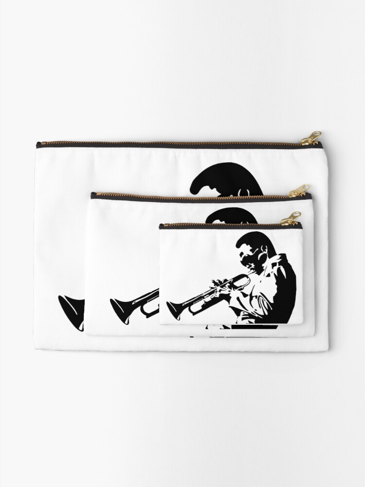 Zip Accessory Pouch Miles Davis Playing His Horn Coin Purse