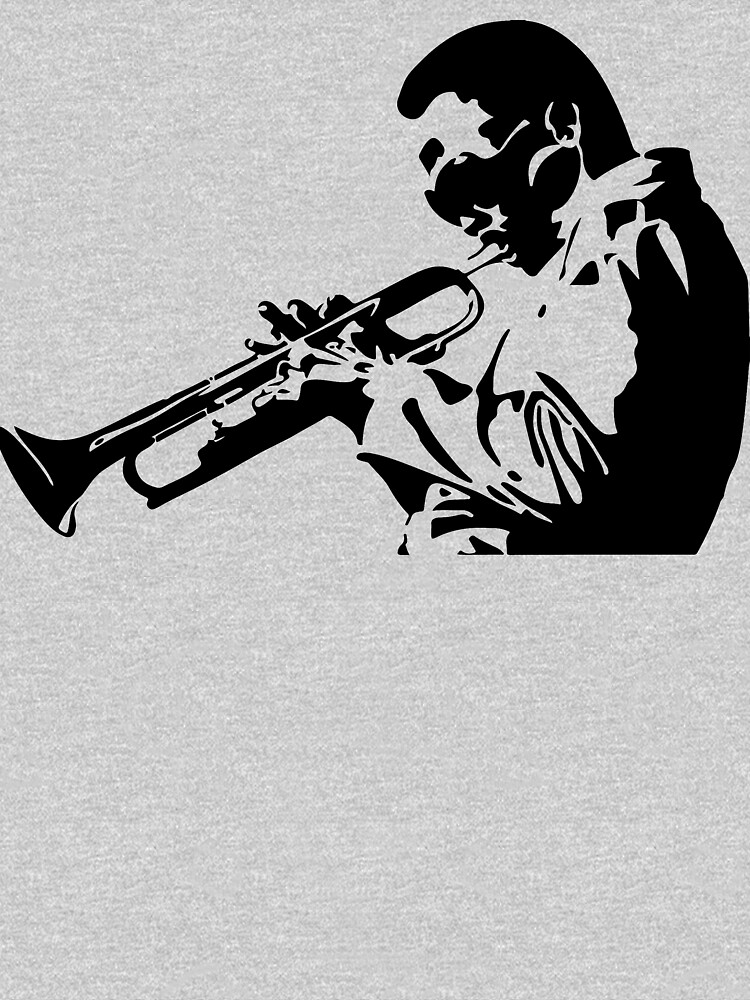 Miles Davis III Playing his Trumpet Artwork for Tshirts, Posters, Prints, Men, Women, Kids by clothorama