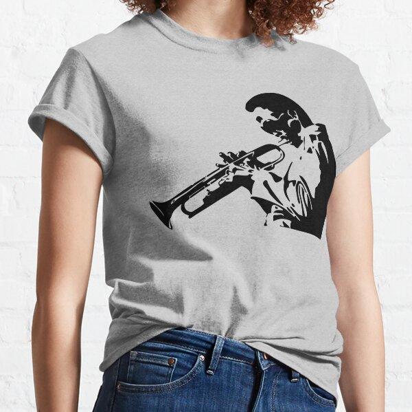 Miles Davis III Playing his Trumpet Artwork for Tshirts, Posters, Prints, Men, Women, Kids Classic T-Shirt