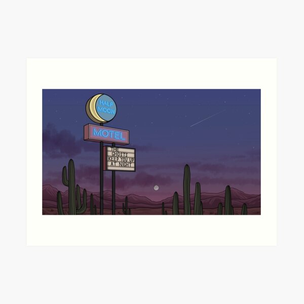 Ghost Motel Art Print