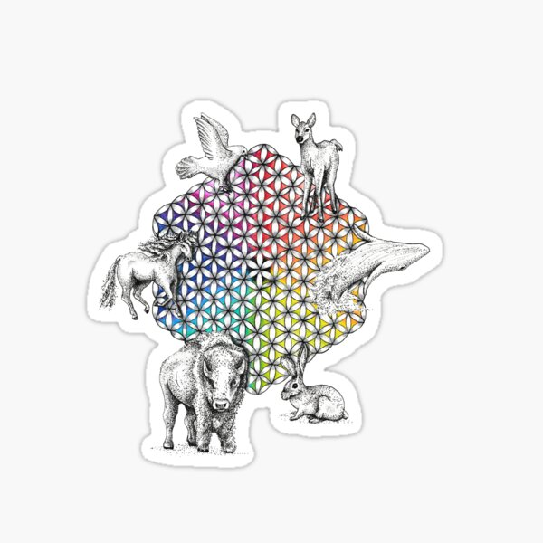 Flower of Life Totem Sticker