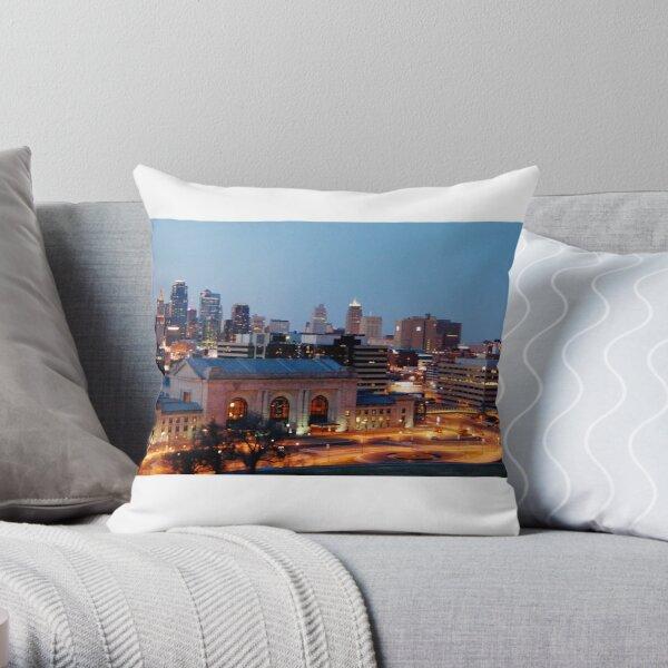 KC Skyline by J. Alexander Greenwood Throw Pillow