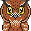 Horned Owl Pixel  by FrogNebula