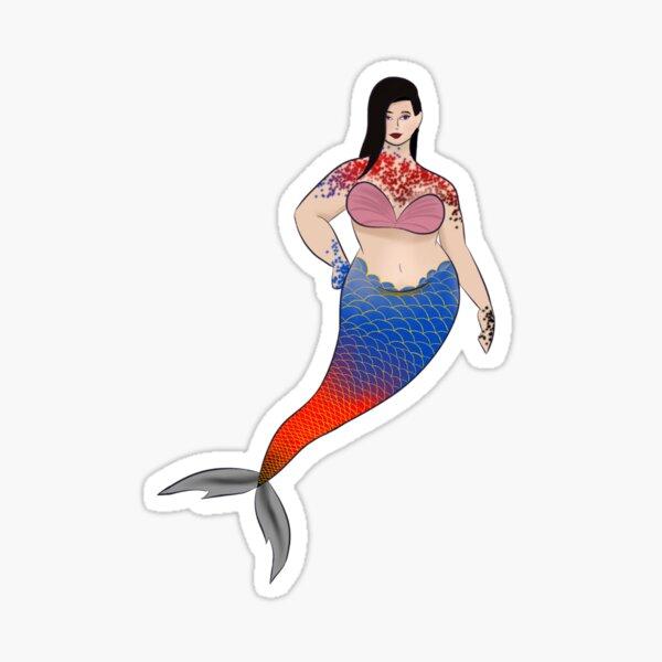 LGBT Mermaids (Polyamory Flag) Sticker