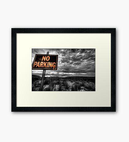 Good Parking Spot Framed Print