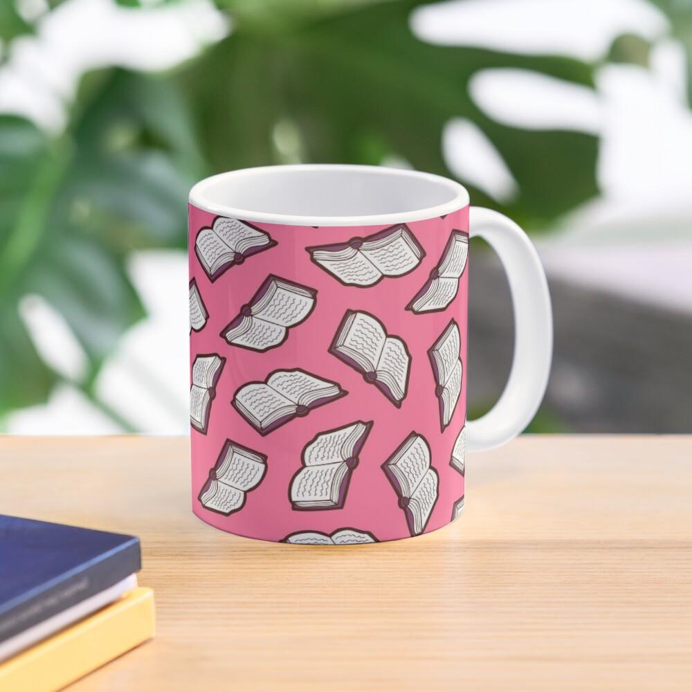 Bookish Reading Pattern in Pink Mug