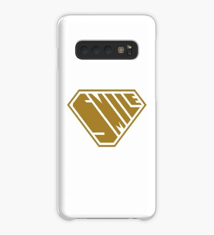 Smile SuperEmpowered (Gold) Case/Skin for Samsung Galaxy