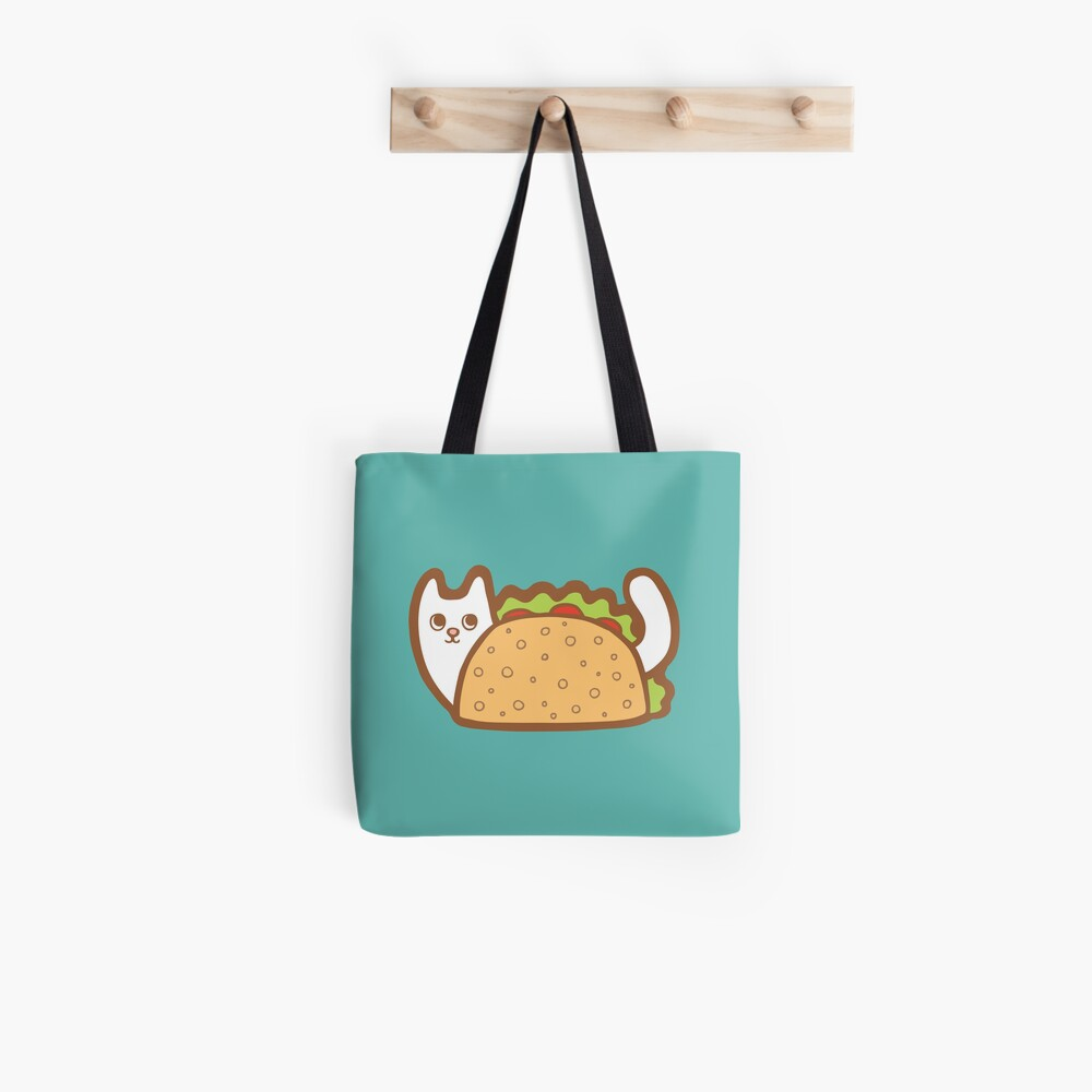 White Cat Taco Tote Bag