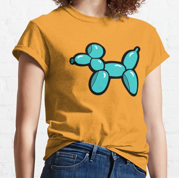 Balloon Animal Dogs Pattern in Coral Classic T-Shirt