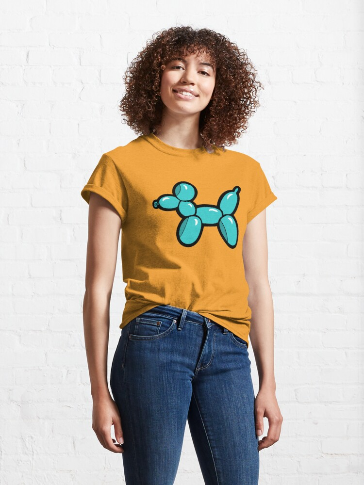 Alternate view of Balloon Animal Dogs Pattern in Coral Classic T-Shirt