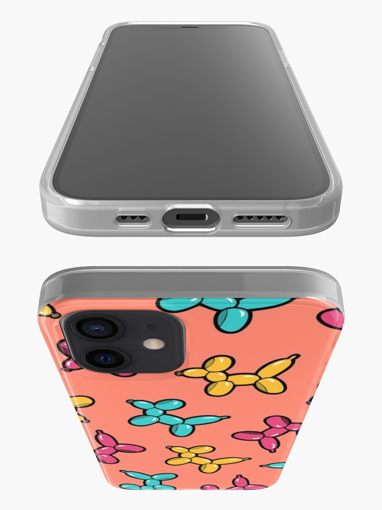 Alternate view of Balloon Animal Dogs Pattern in Coral iPhone Case & Cover