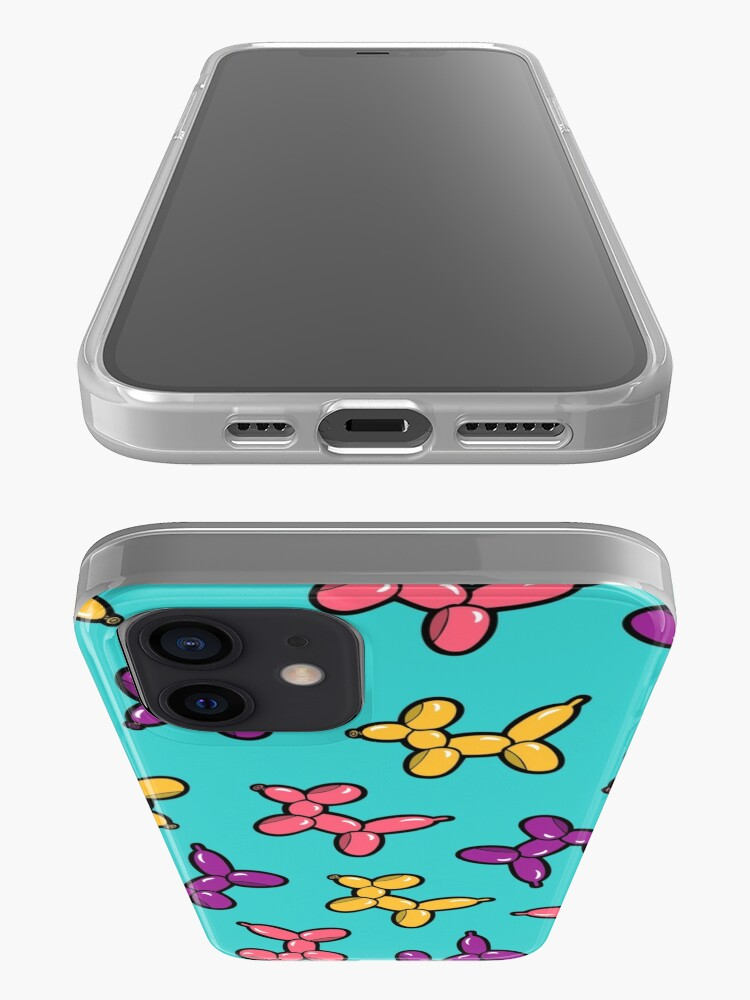 Alternate view of Balloon Animal Dogs Pattern in Blue iPhone Case & Cover