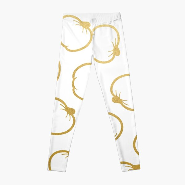 Gold and White Pumpkin Pattern Leggings