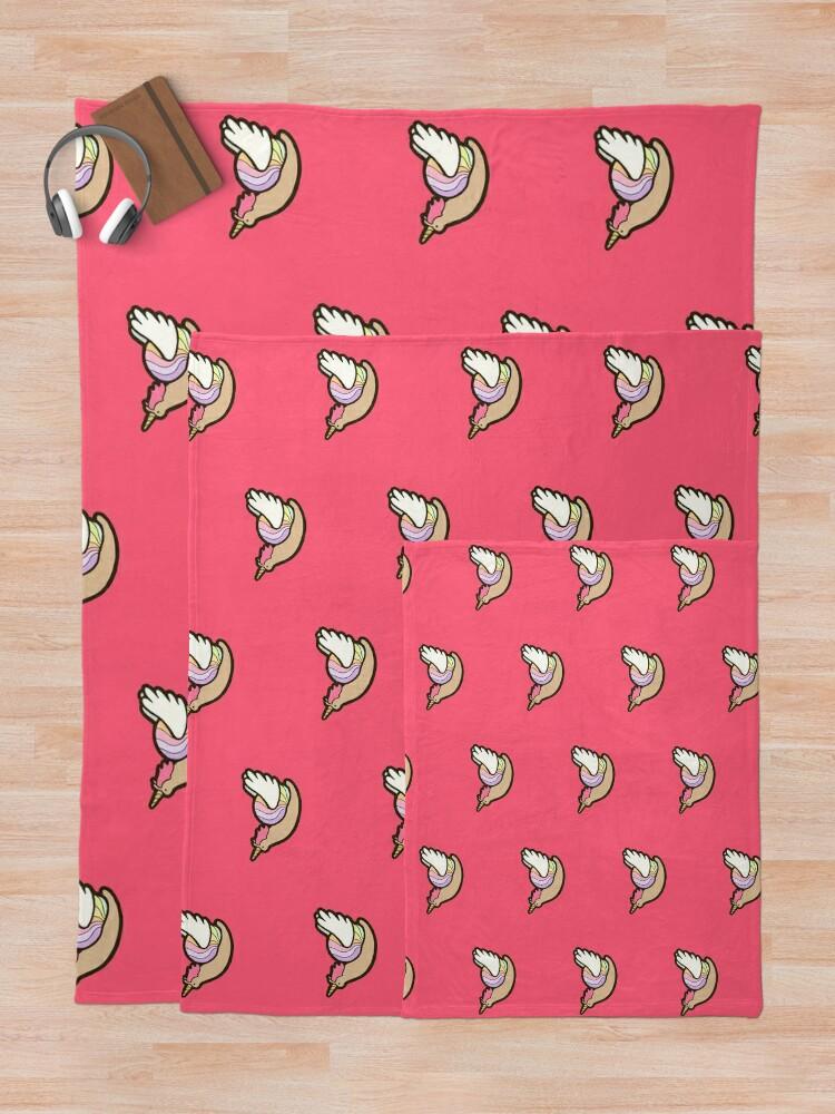 Alternate view of Snailicorn Throw Blanket