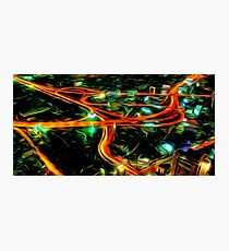 Cityscape Night Life Oil Painting Photographic Print