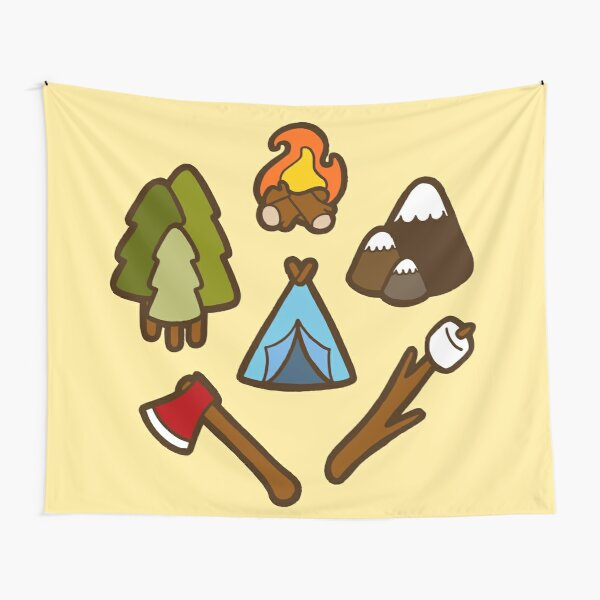 Camping is cool Tapestry