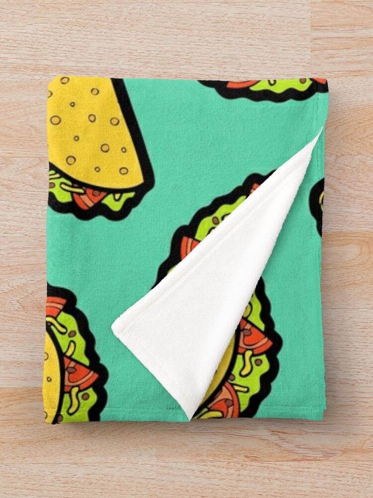 Alternate view of It's Taco Time! Throw Blanket
