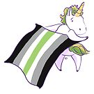 Unicorn's Agender Flag is Proudly Flying!  by Brie Alsbury