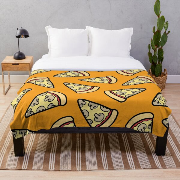 Mushroom Pizza Pattern Throw Blanket