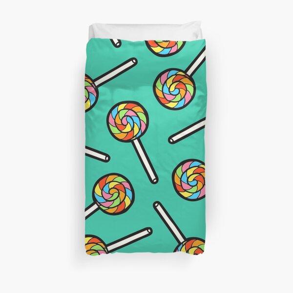 Rainbow Lollipop Pattern Duvet Cover