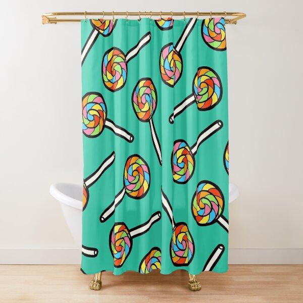 Rainbow Lollipop Pattern Shower Curtain