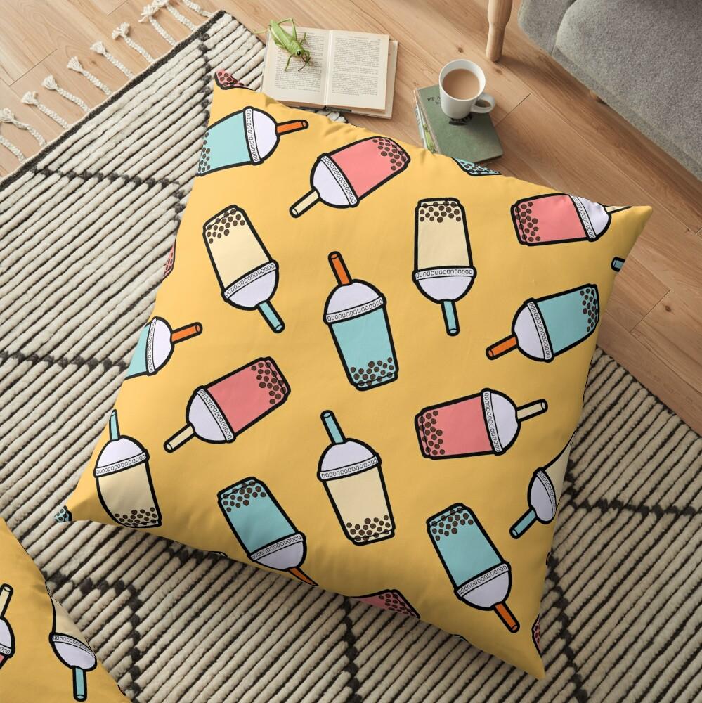 Bubble Tea Pattern Floor Pillow
