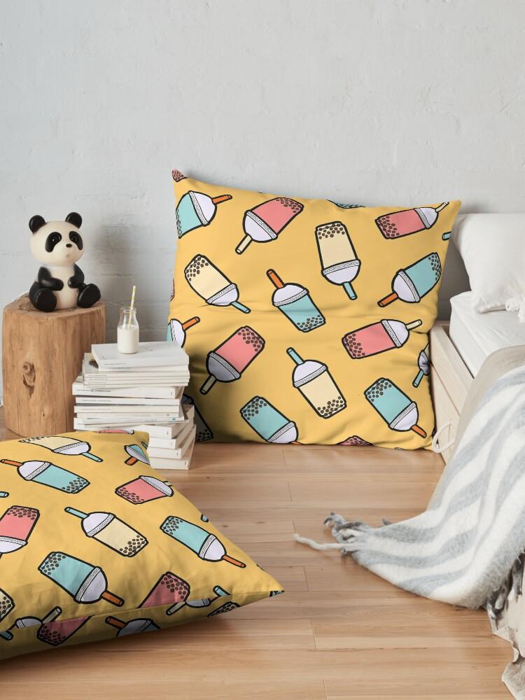 Alternate view of Bubble Tea Pattern Floor Pillow