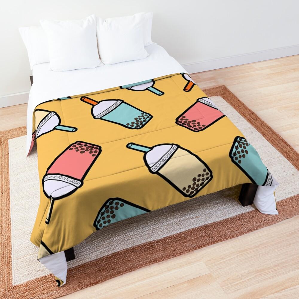 Bubble Tea Pattern Comforter