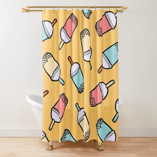 Bubble Tea Pattern Shower Curtain