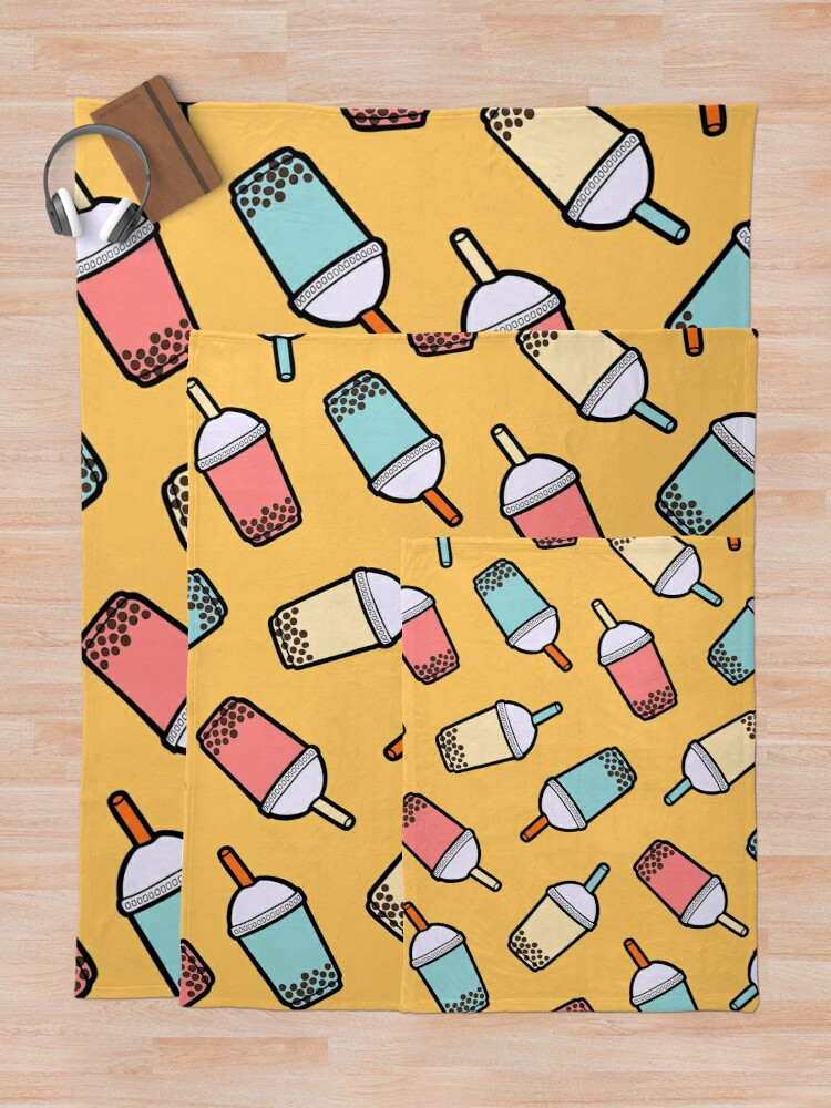 Alternate view of Bubble Tea Pattern Throw Blanket