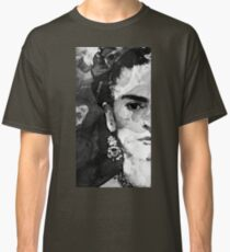 Black And White Frida Kahlo by Sharon Cummings Classic T-Shirt
