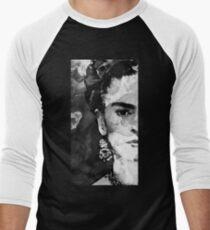 Black And White Frida Kahlo by Sharon Cummings Men's Baseball ¾ T-Shirt